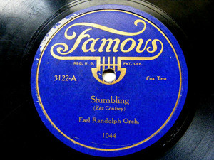 EARL RANDOLPH ORCHESTRA Famous 3122 78rpm STUMBLING