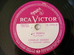 CONRAD GOZZO Rare Arg VICTOR 1025 JAZZ 78rpm LA ROSITA