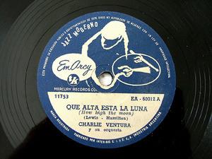 CHARLIE VENTURA Rare Arg  MERCURY 60012 JAZZ 78rpm