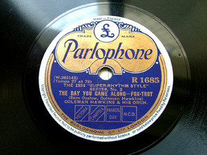 COLEMAN HAWKINS Parlophone R 1685 JAZZ 78rpm JAMAICA SHOUT