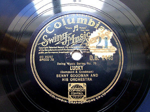 BENNY GOODMAN Columbia 2443 JAZZ 78rpm SWING ANGEL
