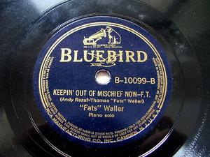 FATS WALLER piano solo BLUEBIRD B10099 JAZZ 78rpm