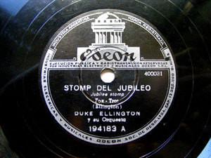 D. ELLINGTON Arg ODEON 194183 JAZZ 78rpm STOMP JUBILEO