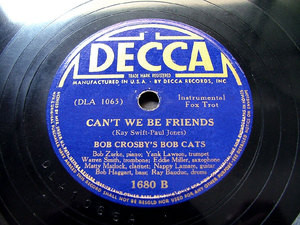"BOB CROSBY'S BOB CATS Decca 1680 JAZZ 10"" 78rpm"