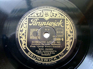 BING CROSBY & Orch UK BRUNSWICK 02986 JAZZ 78rpm