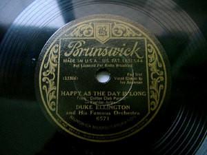 DUKE ELLINGTON Brunswick 6571 JAZZ 78rp RAISIN' THE RENT