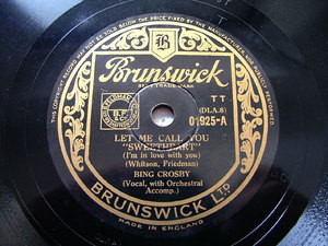 BING CROSBY uk BRUNSWICK 01925 JAZZ 78rpm