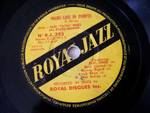 EARL HINES Royal Jazz 725 78rpm NIGHT LIFE IN POMPEI