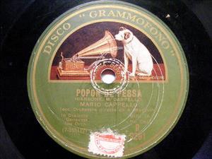 MARIO CAPELLO Grammofono 9291 GENOVESE 78 POPON E PESSA