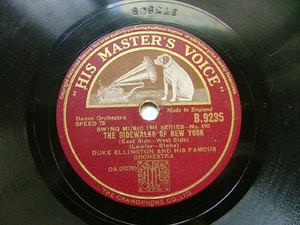 DUKE ELLINGTON HMV 9235 JAZZ 78rpm SIDEWALKS OF NY