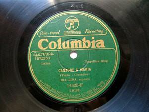 RIA ROSA Columbia 14425F NEAPOLITAN 78rpm CANZONE A MAR