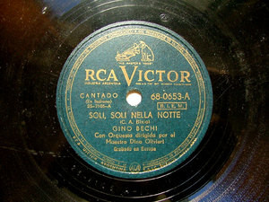 GINO BECHI Rare Arg VICTOR 68-0653 ITALIAN 78rpm SOLI