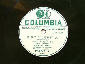 CARLO BUTI Arg COLUMBIA 297017 ITALIAN 78rpm ESCALERITA