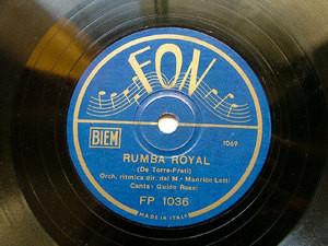 GUIDO ROSSI Fon FP1036 ITALIAN 78rpm RUMBA ROYAL