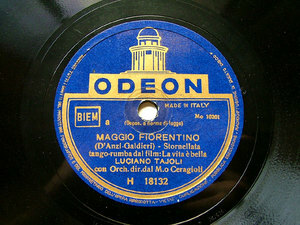 LUCIANO TAJOLI Odeon H18132 ITALIAN 78rpm LUNA MARINARA