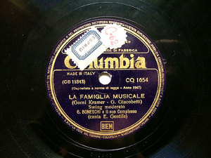 G. BONESCHI Columbia CQ 1654 ITALIAN 78rpm LO SPIRU