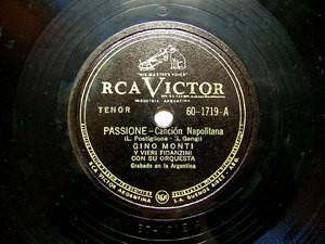 GINO MONTI Arg VICTOR 601719 NEAPOLITAN 78rpm PASSIONE