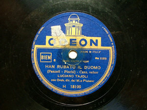 LUCIANO TAJOLI Odeon H18199 ITALIAN 78rpm HAN RUBATO