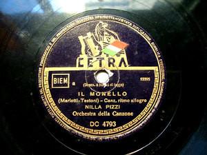 NILLA PIZZI Cetra DC 4793 ITALIAN 78rpm IL MONELLO
