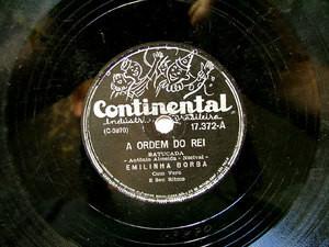 EMILINHA BORBA Continental 17372 SAMBA 78rpm ORDEM DO