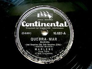 MARLENE Continental 16687 BRAZIL 78rpm QUEBRA MAR