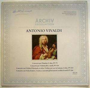 WOLFGANG HOFMANN Archiv 198 318 VIVALDI LP NM-