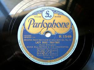 DUKE ELLINGTON Parlophone R1549 78rpm Lazy Duke NM