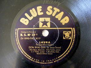 DON BYAS Blue Star 27 JAZZ 78rpm LAURA / CEMENT MIXER