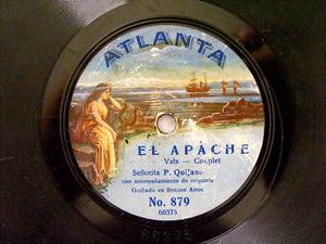 Srta. P. QUIJANO Atlanta 879 SPANISH 78rpm EL APACHE