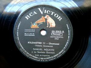 SAMUEL AGUAYO Victor 68-2062 FOLK 78rpm KILOMETRO 11