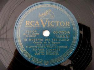 RAFAEL LAGARES Victor 0925 SPANISH 78rpm LOS GAVILANES