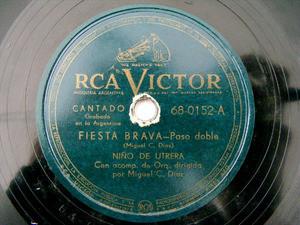 NINO DE UTRERA Victor 68-0152 78rpm FIESTA BRAVA