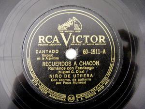 NINO DE UTRERA Victor 60-1911 78rpm SOLERA ANDALUZA