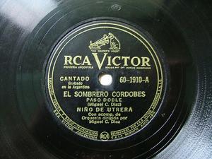 NIÑO DE UTRERA Victor 60-1910 78rpm COMPARACIONES
