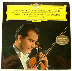 FERRAS & KARAJAN dgg 138 930 BRAHMS Spain LP NM
