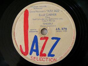 ERROLL GARNER Jazz Selection 576 JAZZ 78rpm TENDERLY