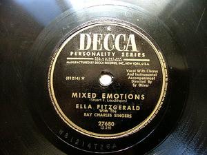 ELLA FITZGERALD Decca 27680 78rpm MIXED EMOTIONS