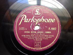 EDMUNDO ROS Parlophone 1917 JAZZ 78rpm DIVINA MUJER