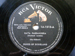 DUKES OF DIXIELAND Victor 1A-1513 JAZZ 78rpm RATA PASEANDERA