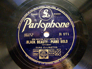 DUKE ELLINGTON Parlophone 571 JAZZ 78rpm BLACK BEAUTY