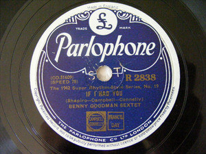 BENNY GOODMAN Parlophone 2838 78rpm LIMEHOUSE BLUES