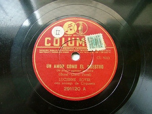 LUCIENNE BOYER Arg COLUMBIA 291120 FRANCE 78rpm MUCHO