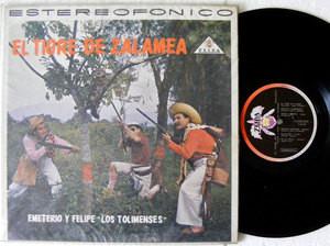 EMETERIO Y FELIPE LOS TOLIMENSES El Tigre De Zalamea ZEIDA 20198 COLOMBIA LP