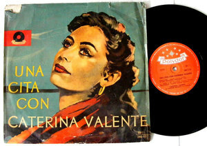 """CATERINA VALENTE Una Cita Con POLYDOR 24011 RARE Argentina 10"""" LP"""