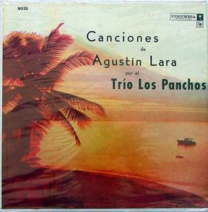 TRIO LOS PANCHOS Canciones De Agustin Lara COLUMBIA 6-eye ARGENTINA LP