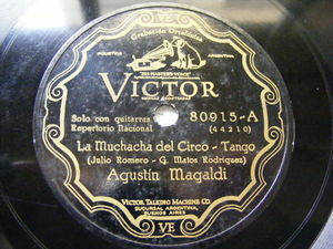 AGUSTIN MAGALDI Victor 80915 TANGO 78 LA MUCHACHA DEL CIRCO / RAMONA