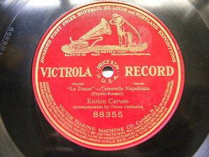 ENRICO CARUSO Victrola 88355 OPERA 78 LA DANZA Tarantelle Neapolitana