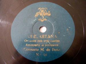 Rare CONSUELO M PEðA Castanets 78 OLE GITANA / FADO