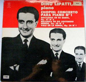Rare DINU LIPATTI CFP 4640 Arg LP CHOPIN Conc No.1