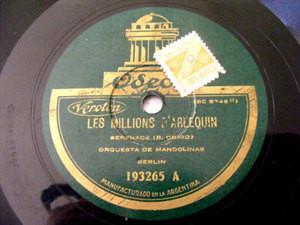 MANDOLIN ORCHESTRA Odeon 193265 78 GAVOTTE LOUIS XIII